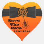 Orange & Black Bling Spider Web Sticker