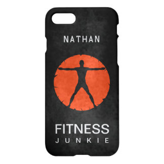 Orange Black Body Madness Fitness Grunge Glossy iPhone 7 Case