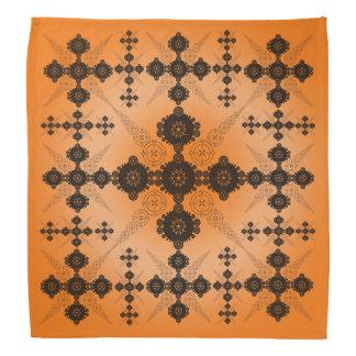 Orange Black Celtic Bandana