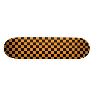 Orange & Black Checkerboard Skateboard