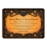 Orange Black Elegant Halloween Wedding Invitation (Visit shop for more wedding invites in this theme)