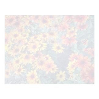 Orange Black Eyed Susan (Rudbeckia Hirta) flowers Custom Letterhead