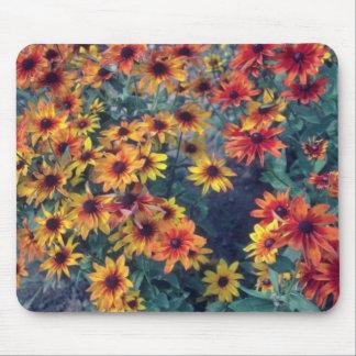 Orange Black Eyed Susan (Rudbeckia Hirta) flowers Mouse Pad