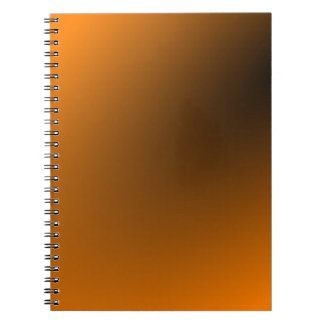 Orange Black Gradient Notebook