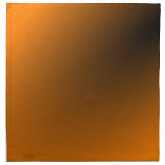 Orange Black Gradient Printed Napkins