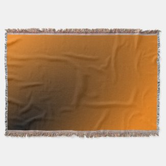 Orange Black Gradient Throw Blanket
