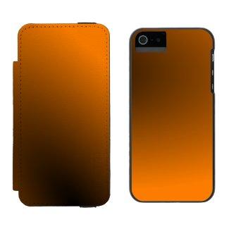 Orange Black Gradient Incipio Watson™ iPhone 5 Wallet Case