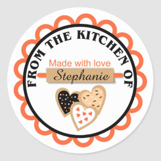 Orange Black Halloween Baking Stickers