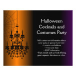 Orange/Black Halloween Chandelier Personalized Flyer