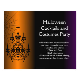 Orange/Black Halloween Chandelier Flyer
