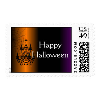 Orange/Black Halloween Chandelier Postage Stamps