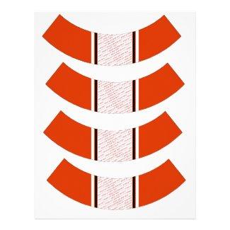 Orange & Black (Halloween Colors) Cupcake Liner Custom Letterhead