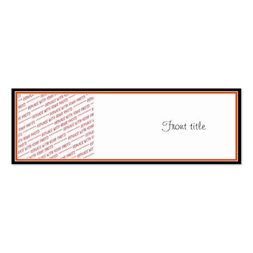 Orange & Black (Halloween Colors) Trimmed Template Double-Sided Mini Business Cards (Pack Of 20)
