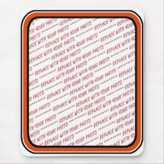 Orange & Black (Halloween Colors) Trimmed Template Mouse Pad