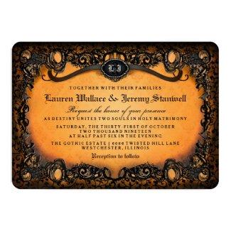 Orange Black Halloween Wedding RECEPTION on BACK