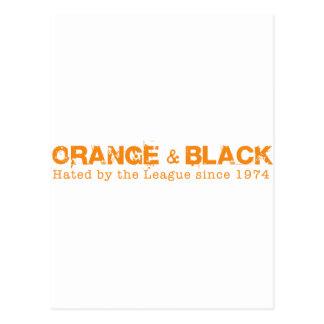 Orange & Black in Orange Postcard