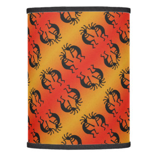 Native american lamp shades zazzle orange black kokopelli southwest pattern lamp shade aloadofball