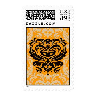 Orange & Black Masquerade Mask US Postage Stamp