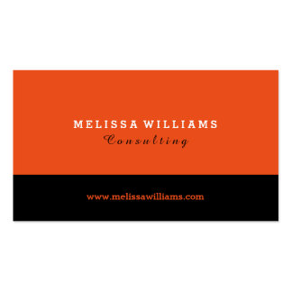 Orange & Black Modern Minimalistic Design Business Card