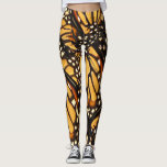 "Orange Black Monarch Butterfly Abstract Leggings<br><div class=""desc"">These leggings present a design of lovely Monarch Butterflies (Danaus plexippus) in colors of orange,  yellow,  gold,  black,  brown and white. The fabulous markings resemble an artistic abstract pattern. What a wonderful idea for an entomologist or butterfly enthusiast!</div>"