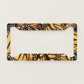 Orange Black Monarch Butterfly License Plate Frame