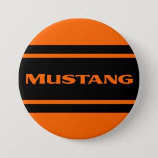 Orange Black Race Stripe Muscle Car Button