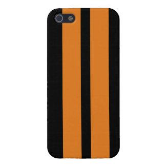 Orange Black Racing Stripes Iphone 5 Case