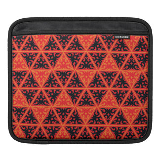 orange black red triangles sleeve for iPads