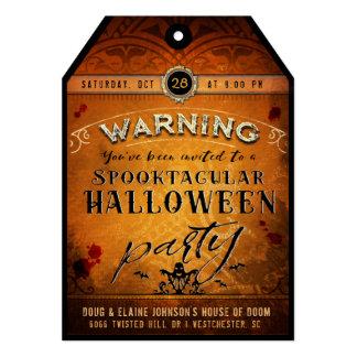 Orange & Black Spooktacular Halloween Tag Invite