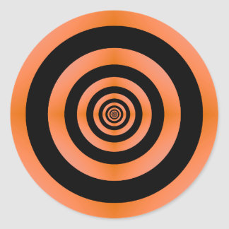 Orange & Black Target Sticker