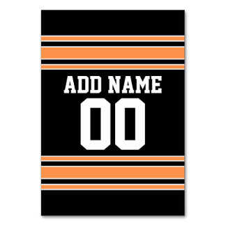Orange Black Team Jersey Custom Name Number Card
