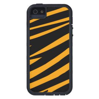 ORANGE BLACK TIGER STRIPES PATTERN CASE FOR iPhone SE/5/5s