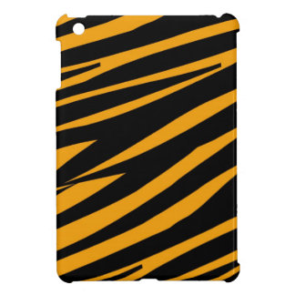 ORANGE BLACK TIGER STRIPES PATTERN COVER FOR THE iPad MINI