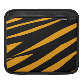 ORANGE BLACK TIGER STRIPES PATTERN iPad SLEEVE