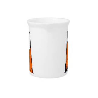 orange black  Traffic cones safety pylons Drink Pitcher