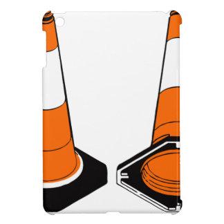 orange black  Traffic cones safety pylons iPad Mini Case