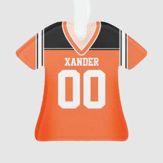 Orange/Black/White Football Jersey Ornament