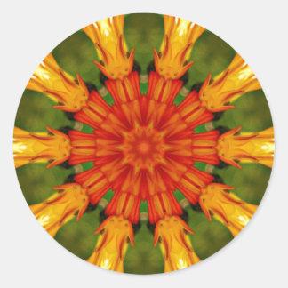 Orange Blast Sticker