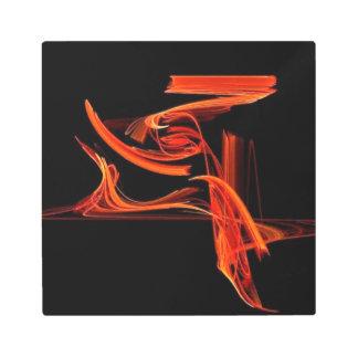 Orange Blaze Metal Art