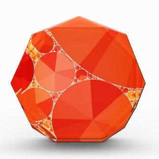 Orange Bling Pattern Award