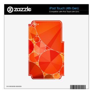 Orange Bling Pattern iPod Touch 4G Skins