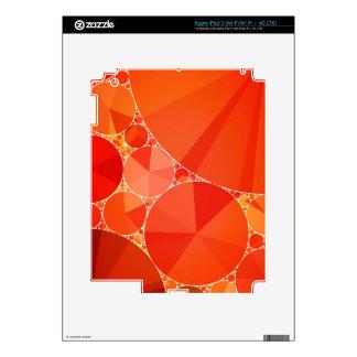 Orange Bling Pattern Skins For iPad 3