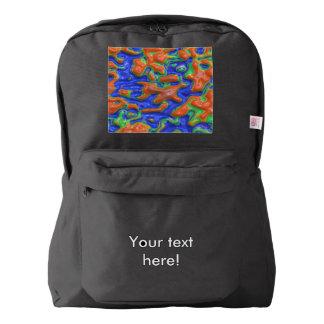Orange blisters backpack
