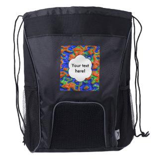 Orange blisters drawstring backpack