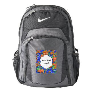 Orange blisters nike backpack