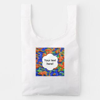 Orange blisters reusable bag