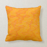 [ Thumbnail: Orange Blob Or Splotch Pattern Pillow ]