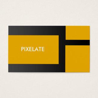 Orange block graphic design business cards