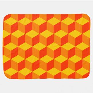 Orange Blocks Baby Blanket