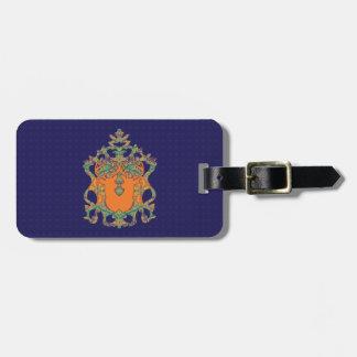 Orange Bloom Novo Morris Collection Travel Bag Tag